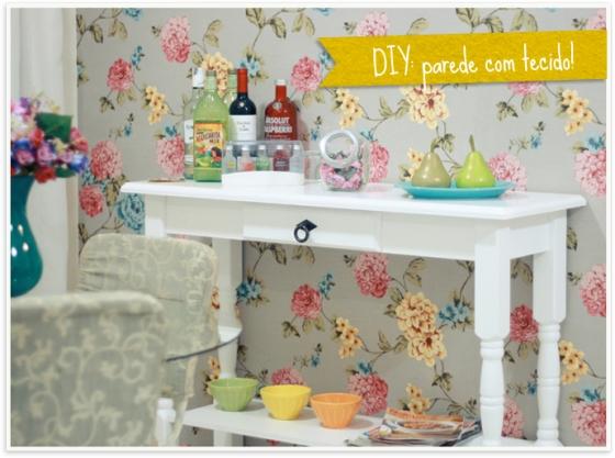 Blog Emily Carvalho DIY Tecido na parede