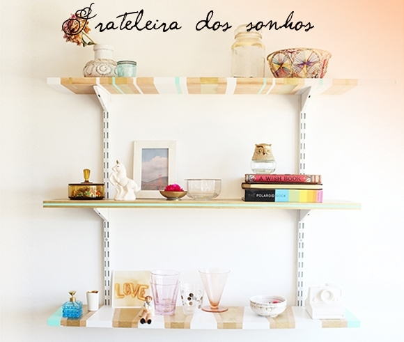 Prateleiras decoradas  DIY  Decorhelo