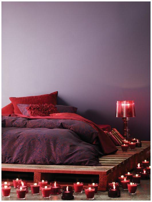 cama de pallet romantica