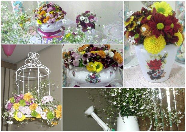 loucas com flores